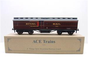 Ace Trains O Gauge LMS Ex MR Brian Wright Overlay Series TPO Mail Coach RN 30285 image 1