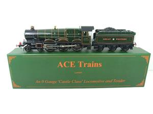 "Ace Trains O Gauge E7 GWR Castle Class ""Warwick Castle"" R/N 4081 Electric Boxed image 1"