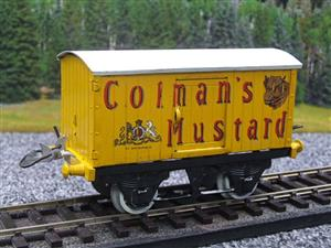 "Hornby Replica Taylor O Gauge Private Owned ""Colmans Mustard"" Van Tinplate Ltd Ed Boxed image 8"
