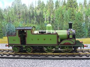 "Gauge 1 LSWR Green ""M7"" Class 0-4-4 Tank Loco R/N 59 Spirit Fired Live Steam image 1"
