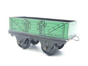 Hornby O Gauge Open Coal - Mineral Wagons x3 Set Vintage Tinplate image 2