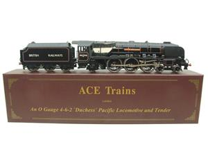 "Ace Trains O Gauge E12S BR Black Duchess Class ""City of Manchester"" R/N 46246 Electric 2/3 Rail Bxd image 1"