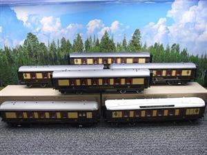 "Darstaed O Gauge ""Brighton Belle"" x6 Pullman Coaches Set Electric 3 Rail  Boxed image 1"