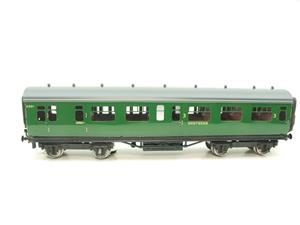 Darstaed O Gauge SR Green Bulleid Corridor Brake End Coach R/N 4301 Lit Interior image 1