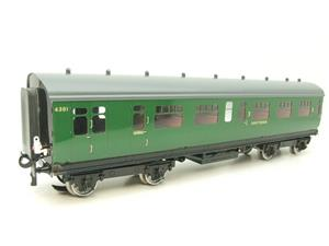 Darstaed O Gauge SR Green Bulleid Corridor Brake End Coach R/N 4301 Lit Interior image 4