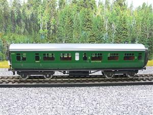 Darstaed O Gauge SR Green Bulleid Corridor Brake End Coach R/N 4301 Lit Interior image 5