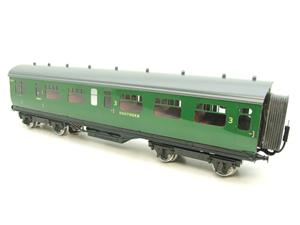 Darstaed O Gauge SR Green Bulleid Corridor Brake End Coach R/N 4301 Lit Interior image 10