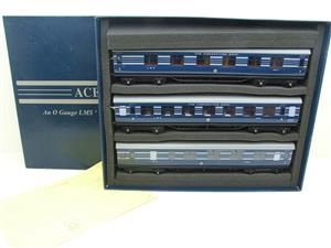 Ace Trains O Gauge C20-A LMS Blue Coronation Scot x3 Coaches 2/3 Rail Set A image 1