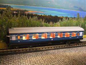 Ace Trains O Gauge C20-A LMS Blue Coronation Scot x3 Coaches 2/3 Rail Set A image 7