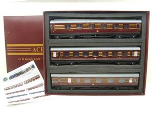 Ace Trains O Gauge C28A LMS Maroon Coronation Scot Coaches x3 Set A Bxd 2/3 Rail Int Lit image 1