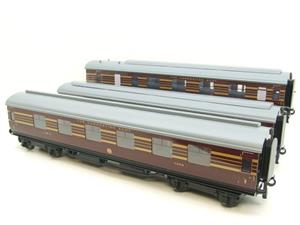 Ace Trains O Gauge C28A LMS Maroon Coronation Scot Coaches x3 Set A Bxd 2/3 Rail Int Lit image 3