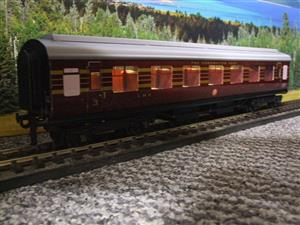 Ace Trains O Gauge C28A LMS Maroon Coronation Scot Coaches x3 Set A Bxd 2/3 Rail Int Lit image 4