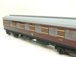 Ace Trains O Gauge C28A LMS Maroon Coronation Scot Coaches x3 Set A Bxd 2/3 Rail Int Lit image 8
