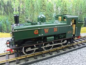 Gauge 1 Aster GWR Green Class 5700 Pannier Tank Loco R/N 6752 Live Steam Boxed image 3