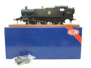 Heljan O Gauge Item 6125 BR Green Early Crest Class 61xx Large Prairie Tank Loco R/N 4144 Electric image 1