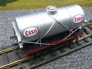 "Gauge 1 Model Co Accucraft  R32-3D-14-Ton Oil ""Esso Tanker Wagon"" image 7"