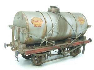 "Gauge 1 Model Co Accucraft R32-3C-14-Ton Oil ""Shell Tanker Wagon"" Professionally Weathered image 4"