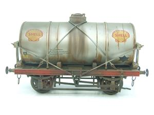 "Gauge 1 Model Co Accucraft R32-3C-14-Ton Oil ""Shell Tanker Wagon"" Professionally Weathered image 5"