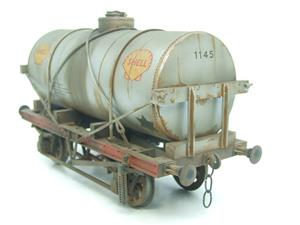 "Gauge 1 Model Co Accucraft R32-3C-14-Ton Oil ""Shell Tanker Wagon"" Professionally Weathered image 6"