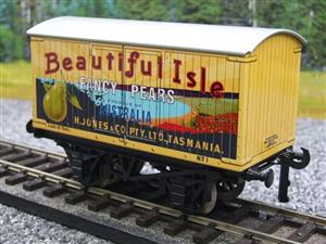 "Ace Trains Horton Series O Gauge Private Owner ""Beautiful Isle Pears"" Van Grey Roof Boxed image 3"