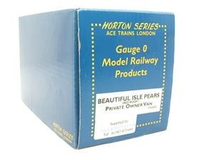 "Ace Trains Horton Series O Gauge Private Owner ""Beautiful Isle Pears"" Van Red Roof Boxed image 7"