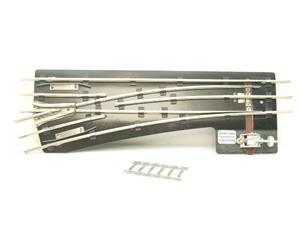 "Maldon Track O Gauge F9 Standard LH Left Hand 38"" Radius Point 3 Rail With C/Plates Bxd unused image 1"