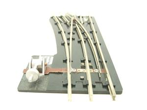 "Maldon Track O Gauge F9 Standard LH Left Hand 38"" Radius Point 3 Rail With C/Plates Bxd unused image 2"