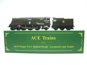 "Ace Trains O Gauge E9 Bulleid Pacific BR Green ""Tangmere"" R/N 34067 Bxd Elec 2/3 Rail image 1"