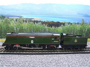 "Ace Trains O Gauge E9 Bulleid Pacific BR Green ""Tangmere"" R/N 34067 Bxd Elec 2/3 Rail image 9"