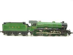 "O Gauge Solid Brass LNER B17/4 Class 4-6-0 ""Leicester City"" R/N 2865 Electric 3 Rail image 1"