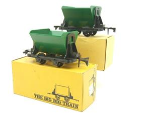 Big Train O Gauge RV 273 Side Tipping Wagons x2 Set Boxed image 3