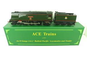 "Ace Trains O Gauge E9 Bulleid Pacific BR ""Exmouth"" R/N 34015 Electric 2/3 Rail Bxd image 1"