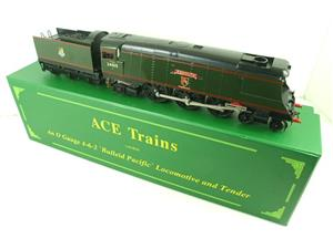 "Ace Trains O Gauge E9 Bulleid Pacific BR ""Exmouth"" R/N 34015 Electric 2/3 Rail Bxd image 2"