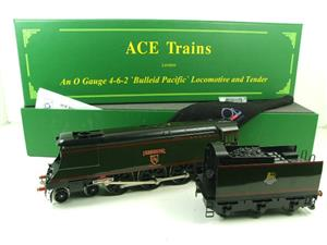 "Ace Trains O Gauge E9 Bulleid Pacific BR ""Exmouth"" R/N 34015 Electric 2/3 Rail Bxd image 3"