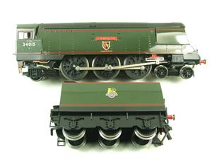 "Ace Trains O Gauge E9 Bulleid Pacific BR ""Exmouth"" R/N 34015 Electric 2/3 Rail Bxd image 9"