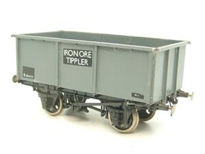"Peco O Gauge Kit Built Grey ""Iron Ore Tippler"" Coal Wagon R/N B381432 image 3"