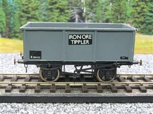 "Peco O Gauge Kit Built Grey ""Iron Ore Tippler"" Coal Wagon R/N B381432 image 5"