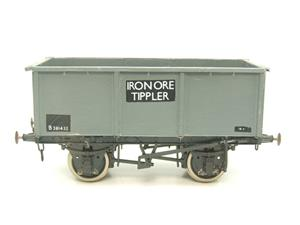 "Peco O Gauge Kit Built Grey ""Iron Ore Tippler"" Coal Wagon R/N B381432 image 9"