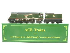 "Ace Trains O Gauge E9 Bulleid Pacific BR ""Padstow"" R/N 34008 Electric 2/3 Rail Bxd image 1"