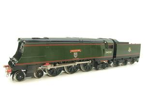 "Ace Trains O Gauge E9 Bulleid Pacific BR ""Padstow"" R/N 34008 Electric 2/3 Rail Bxd image 3"
