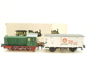 Pola Maxi/Lima/Rivarossi O Gauge DB Diesel Shunter Loco & Beer Wagon Electric 3 Rail Boxed image 1