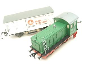 Pola Maxi/Lima/Rivarossi O Gauge DB Diesel Shunter Loco & Beer Wagon Electric 3 Rail Boxed image 8