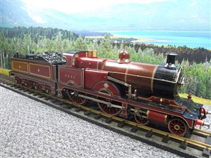 "Gauge 1 Live Steam Brass MR ""Johnson Belpaire"" 4-4-0 Loco & Tender R/N 2633 image 7"