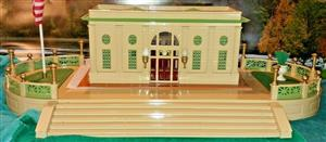 T-Reproductions 129-B, O Gauge S/Gauge Terrace Stand for Lionel & MTH 114/116 Double Stations MIB image 10