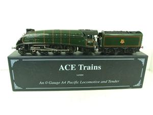 "Ace Trains O Gauge E4 A4 Pacific BR Green ""Bittern"" R/N 60019 Electric 3 Rail Boxed image 1"