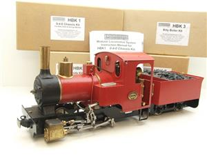 "G Scale  Roundhouse 45mm Gauge Brass, Red, 0-4-0T ""Billy"" Loco & ""George"" Tender Live Steam image 1"