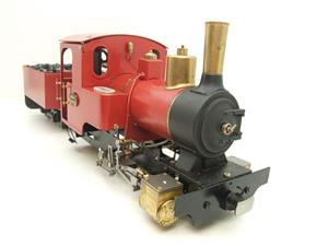 "G Scale  Roundhouse 45mm Gauge Brass, Red, 0-4-0T ""Billy"" Loco & ""George"" Tender Live Steam image 2"