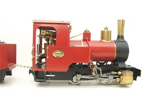 "G Scale  Roundhouse 45mm Gauge Brass, Red, 0-4-0T ""Billy"" Loco & ""George"" Tender Live Steam image 4"