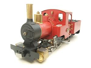 "G Scale  Roundhouse 45mm Gauge Brass, Red, 0-4-0T ""Billy"" Loco & ""George"" Tender Live Steam image 6"