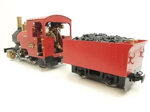 "G Scale  Roundhouse 45mm Gauge Brass, Red, 0-4-0T ""Billy"" Loco & ""George"" Tender Live Steam image 7"